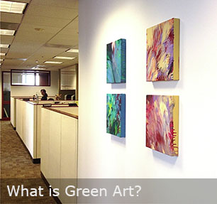 Green art contemporary