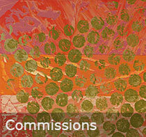 Commission green contemporary art