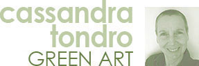 Abstract Contemporary Green Art by Cassandra Tondro