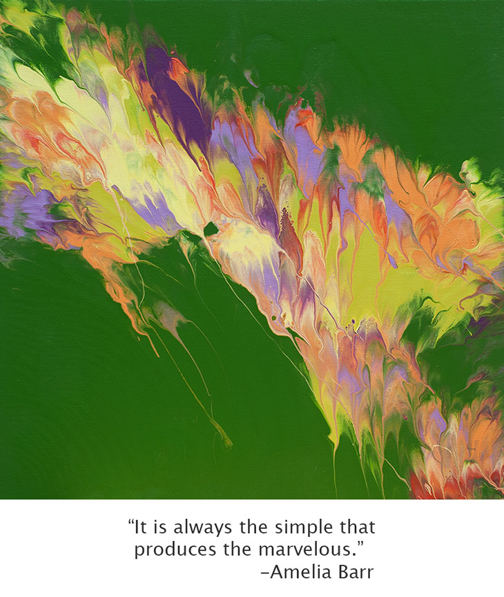 Cassandra Tondro Green Art, inspirational art quote