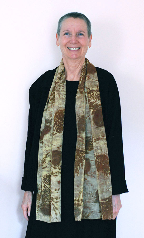 Ecoprint Silk Scarf