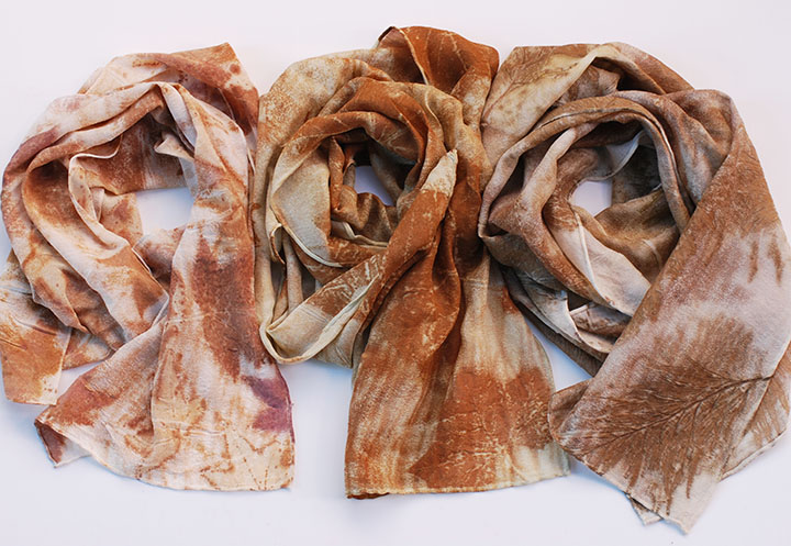 Ecoprint Silk Scarves