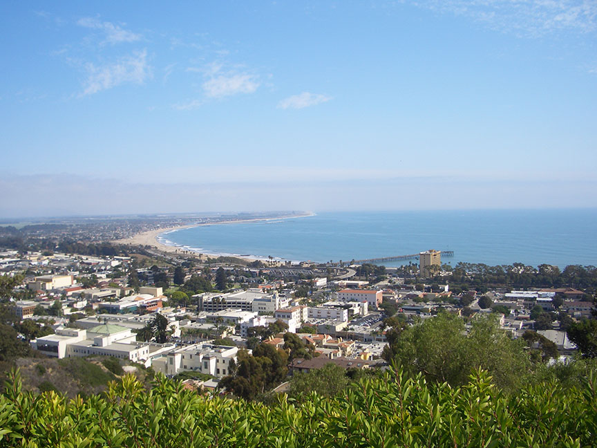 View of Ventura from Serra Cross