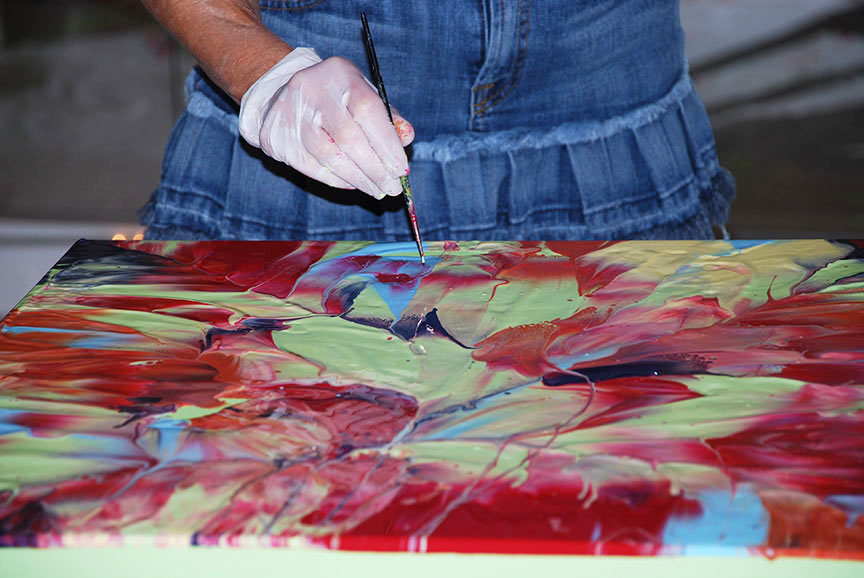 Live Painting Performance at Cosmotion