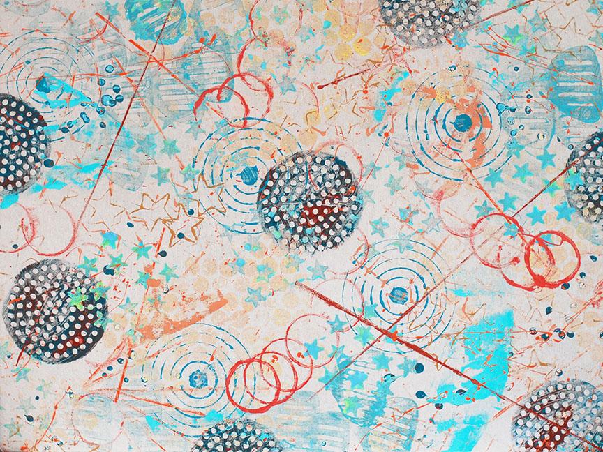Cosmic Kandinsky abstract art