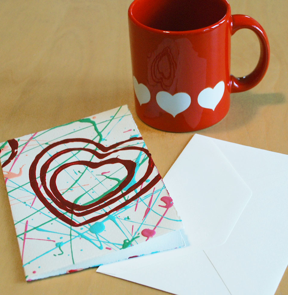 Valentine art cards
