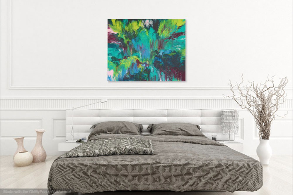 "Cassandra Tondro, ""Tropical Dreams,"" abstract painting"