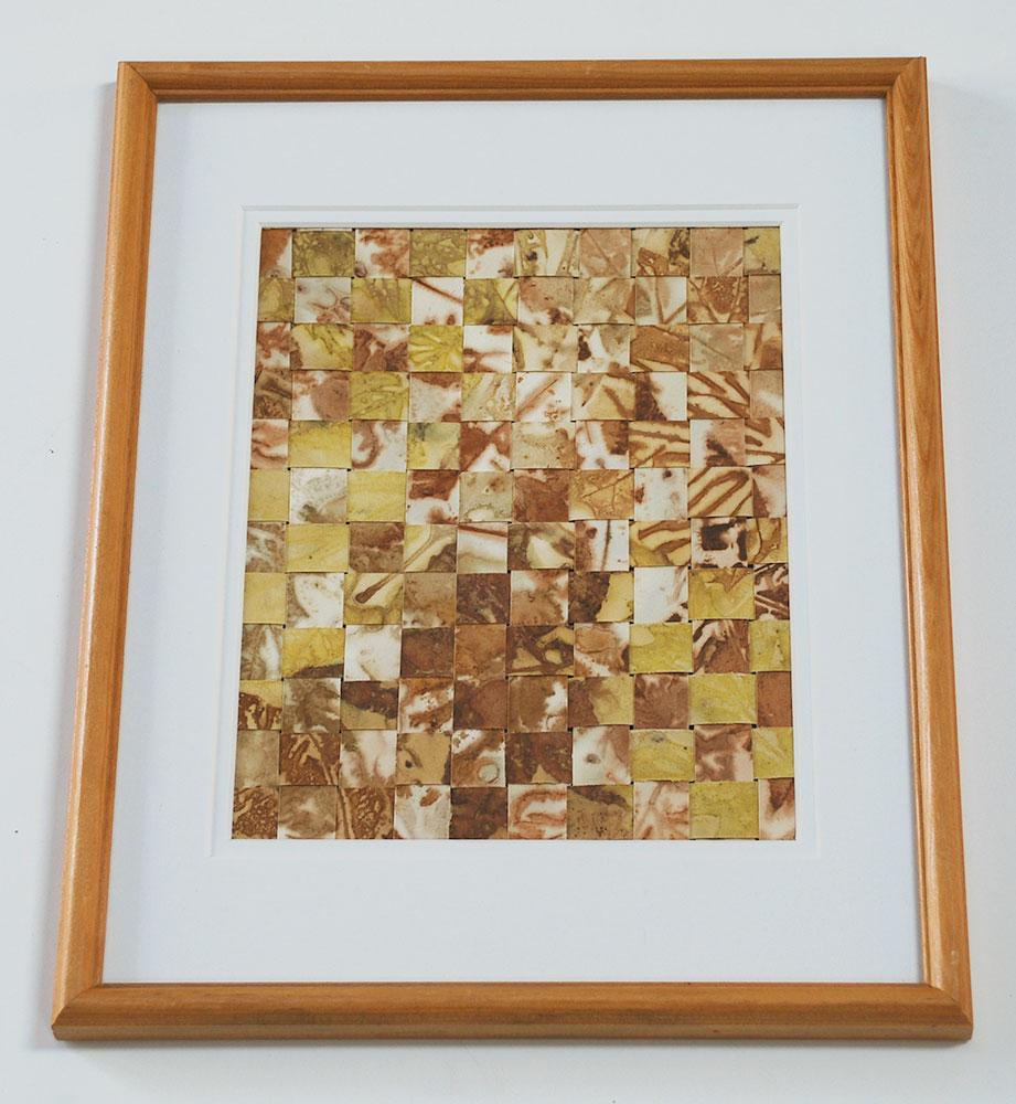Cassandra Tondro art woven leaf prints