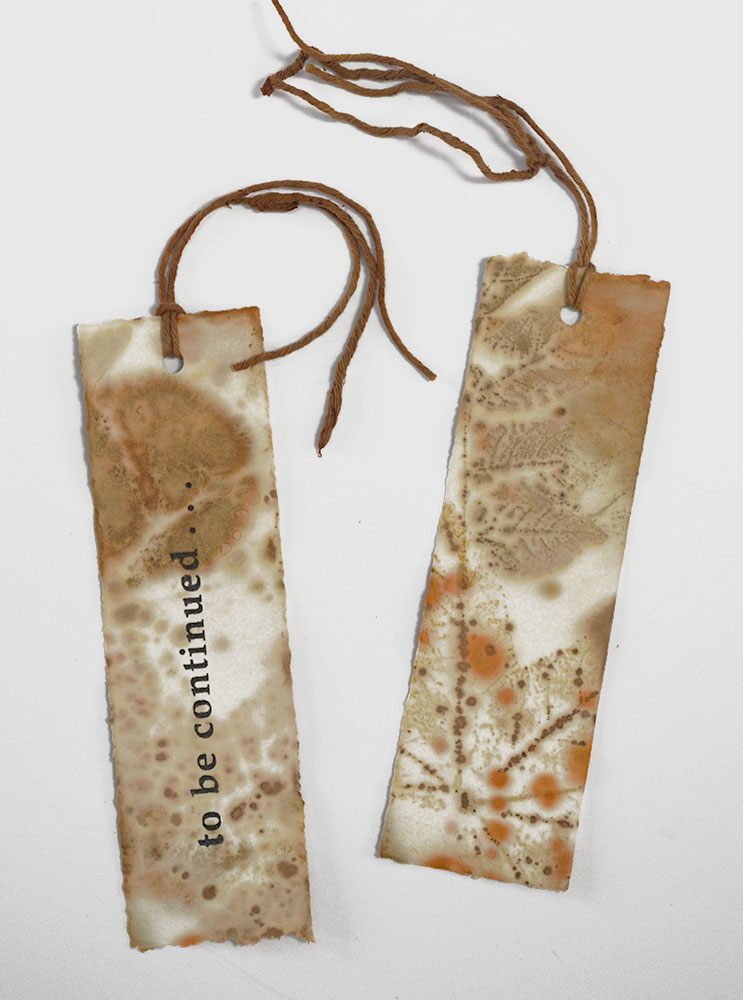 Cassandra Tondro Leaf Print bookmark DIY project