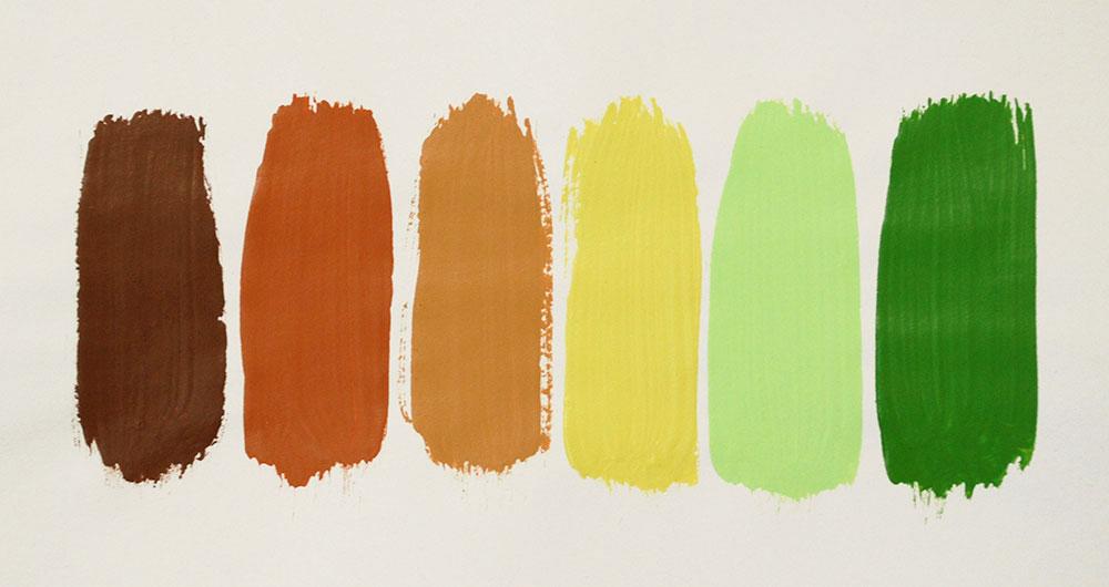 Cassandra Tondro painting color palette