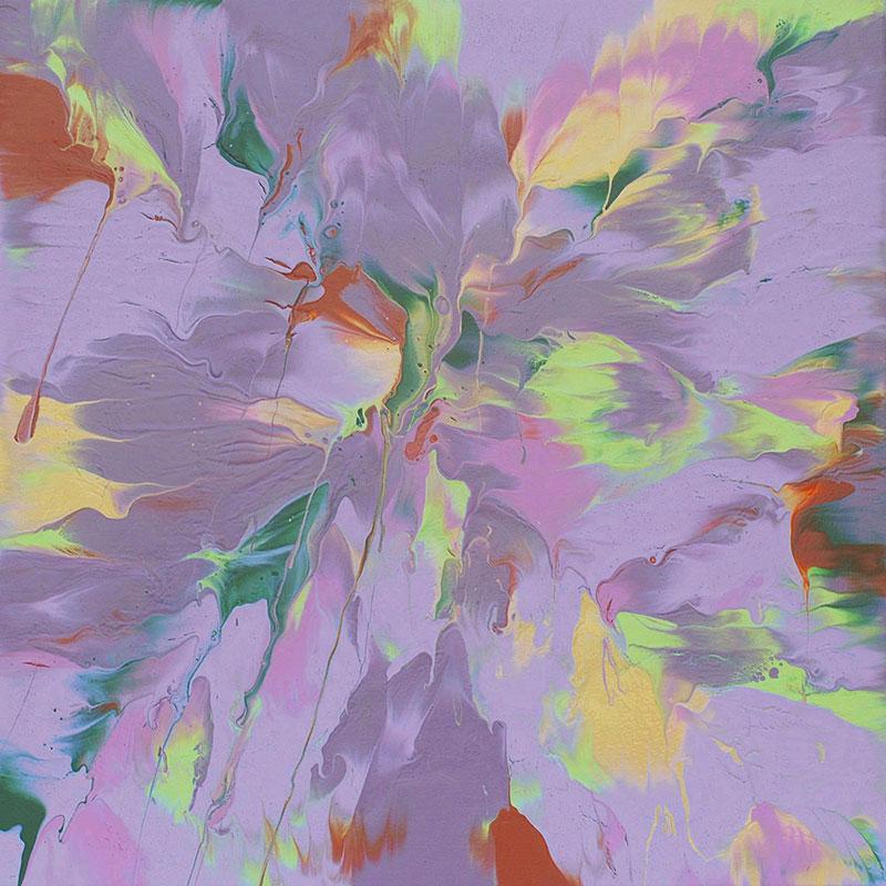 "Cassandra Tondro, ""Synaptic Connections"" painting"